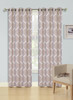 Jacquard Wave Grommet Window Curtain Panel, Quinn, 54x90, 1 Panel - Taupe