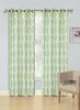 Jacquard Wave Grommet Window Curtain Panel, Quinn, 54x90, 1 Panel - Sage