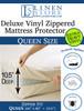 Deluxe Vinyl Zippered Mattress Protector Cover, Extra Heavy Queen