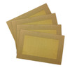 Border Weaved Decorative PVC Placemat - Gold-Yellow