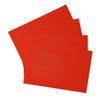 Border Weaved Decorative PVC Placemat - Red