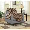 Austin Reversible Solid/Print Microfiber Furniture Protector With Strap & Side Pockets Chair