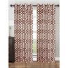 "Single Panel Tori Collection Window Treatment Curtain 55""x 84"" Vibrant Geometric Lattice Design , Grommet Top Hanging Panel"