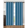 "Single Panel Parker Collection Window Treatment Curtain Panel 55""x 84"" Vibrant  Solid Design, Grommet Top Hanging Drape"