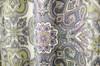 "Fabric Canvas Shower Curtain, 70""x70"", Amy, Geometric Paisley Floral Design"