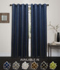 "Kashi Home Natalie Collection Foil Printed 54""x84"" Grommet Single Blackout Curtain Panel"