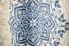 "Linen Store Fabric Canvas Shower Curtain, 70""x70"", Jenna, Floral Scroll Medallion Design"