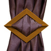 Set of 2 Diamond Flocked Decorative Curtain Holdbacks, Tie Backs, Black, Burgundy, Gold, Taupe
