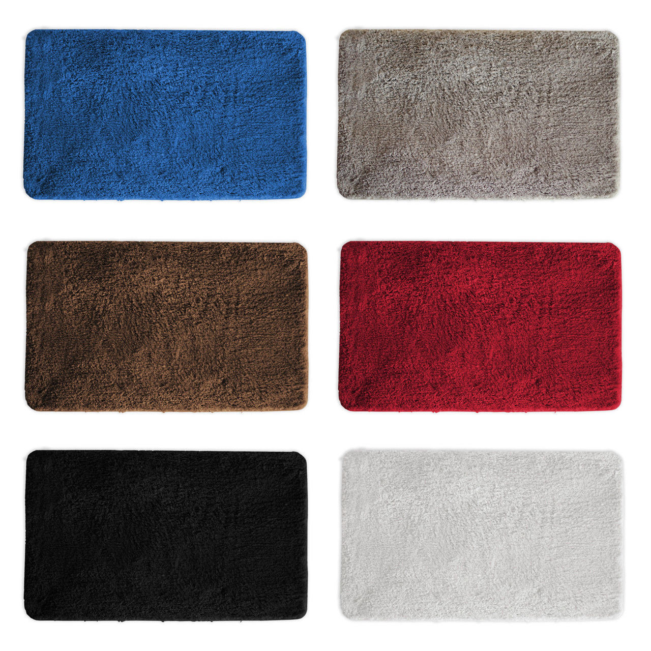 Mary Bathroom Rug Luxury Soft Plush Shaggy Thick Fluffy Microfiber