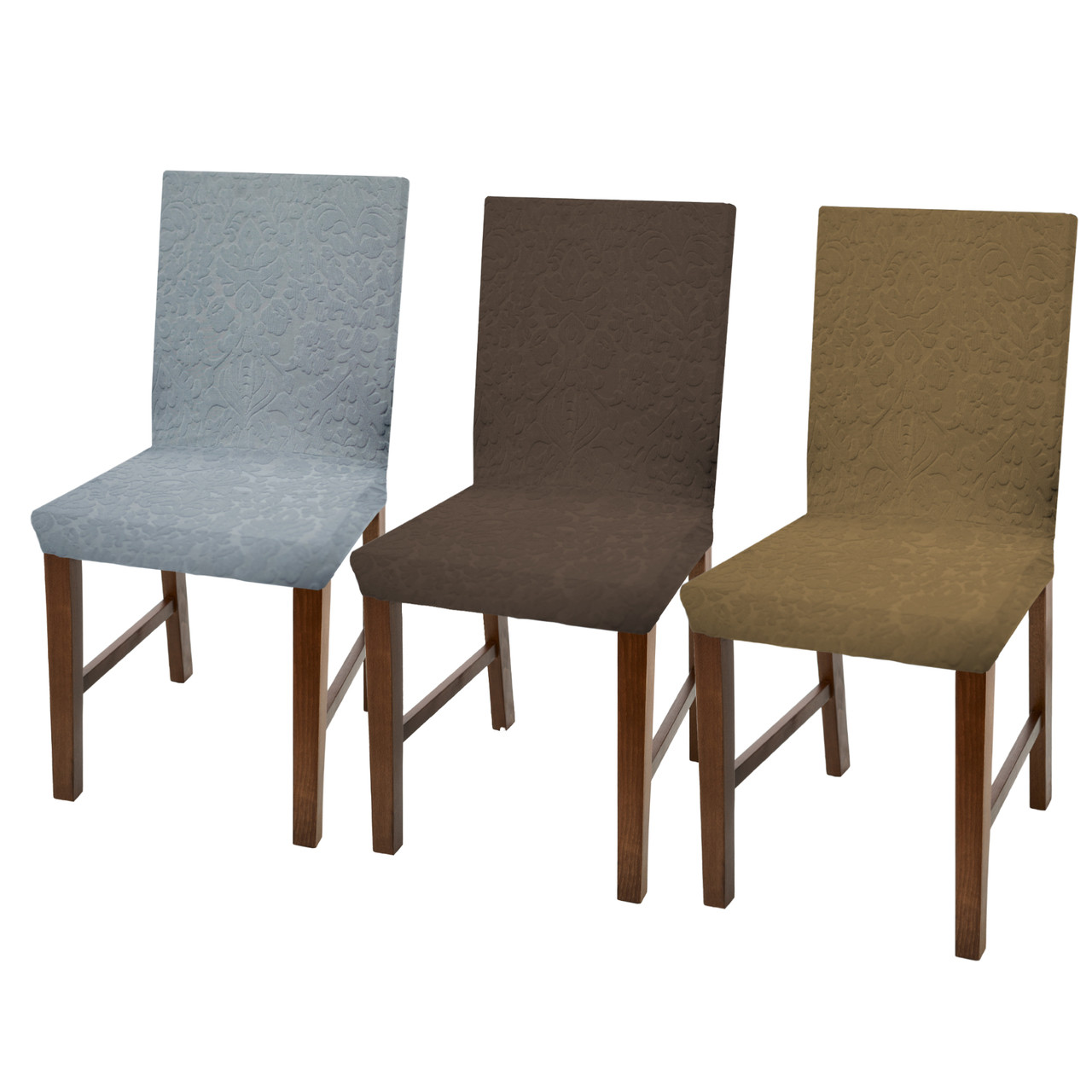 Incredible Linen Store Luxurious Damask Dining Chair Cover Form Fitting Soft Parson Chair Slipcover Set Of 2 4 6 Ncnpc Chair Design For Home Ncnpcorg