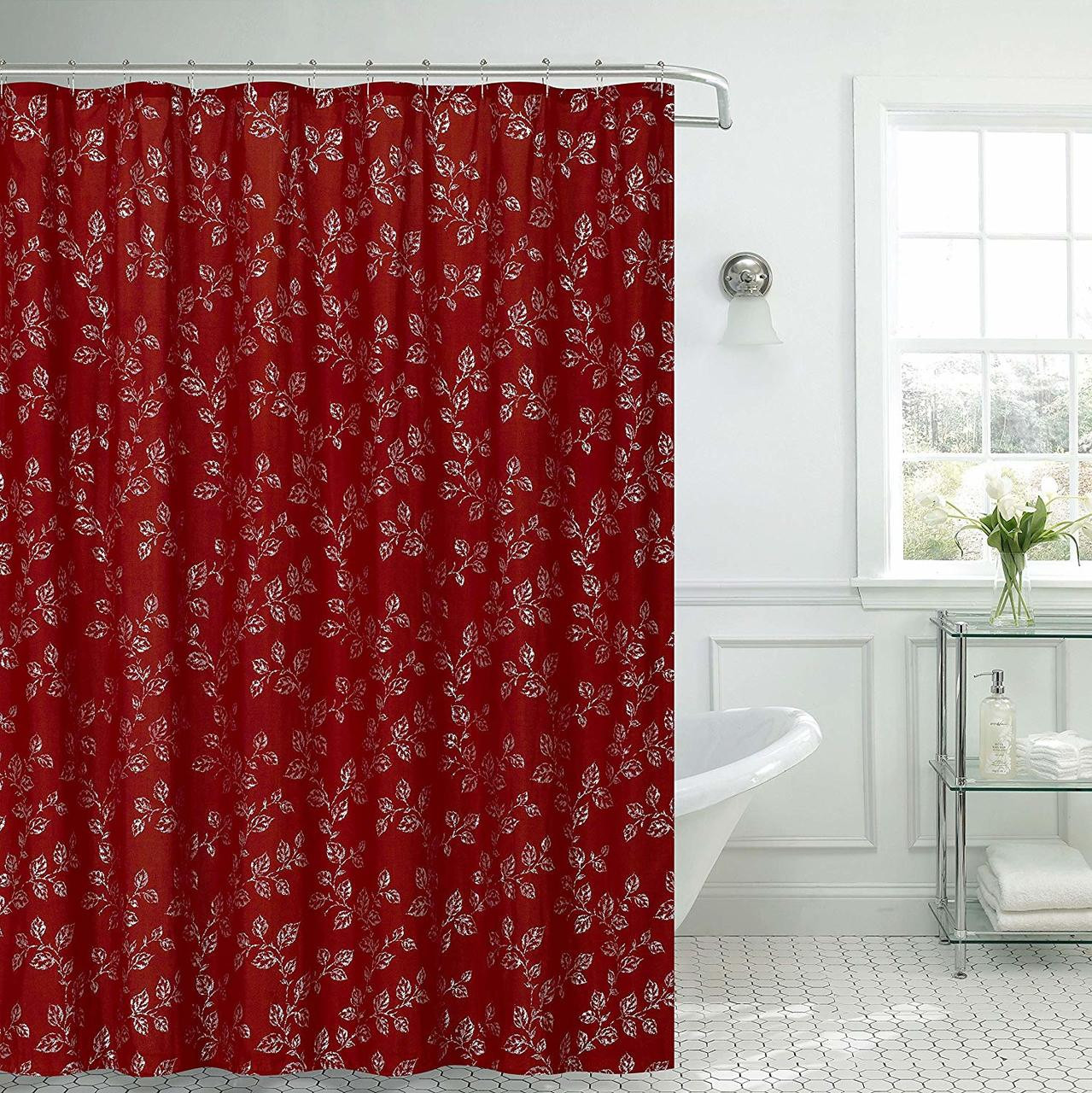 Shower Curtain Pvc Free Peva Printed Fun Colorful Paisley Floral