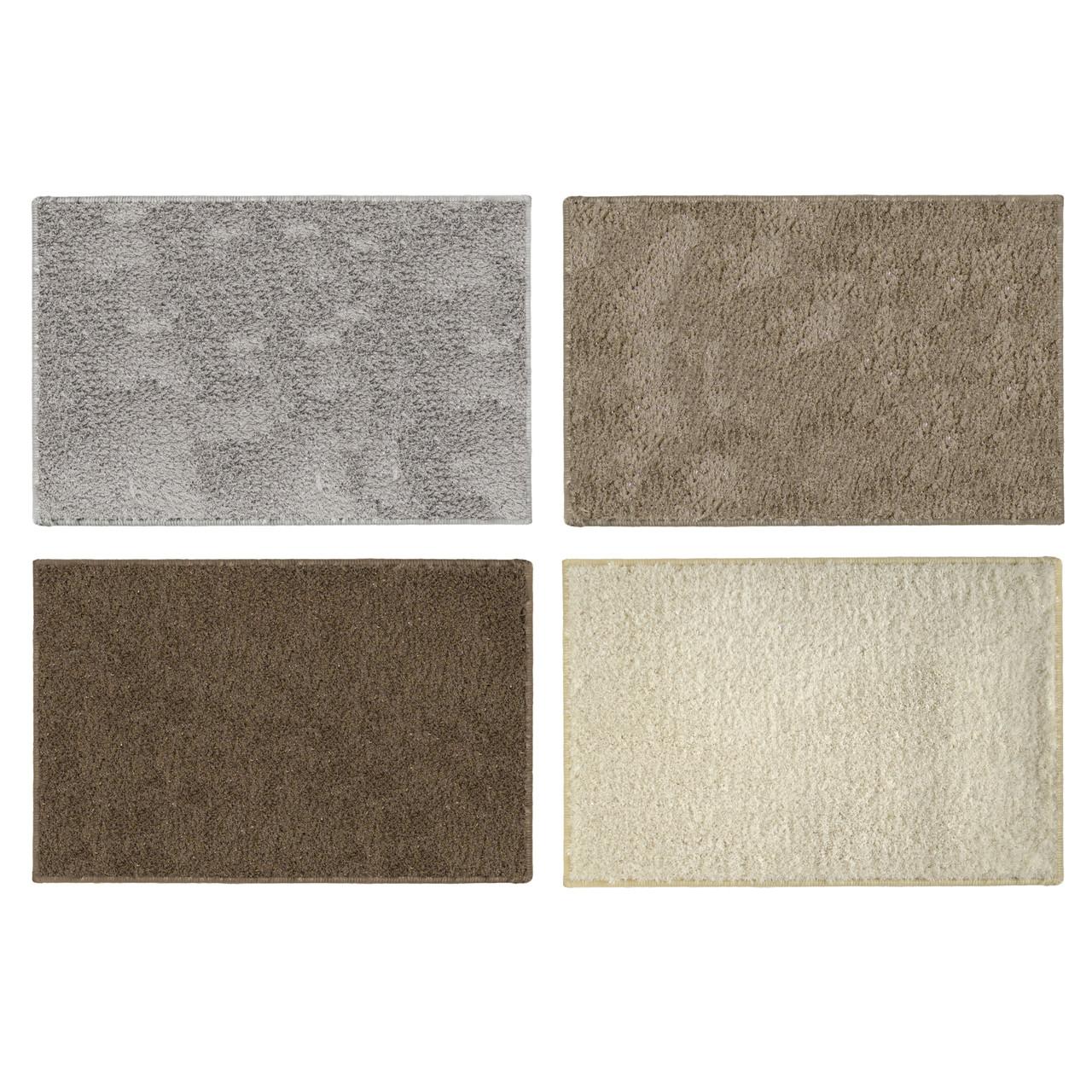Spen Luxury Decorative Glitter Lurex Blend Bath Mat Bathroom Floor Rug Anti Slip Backing 20x30 Inch