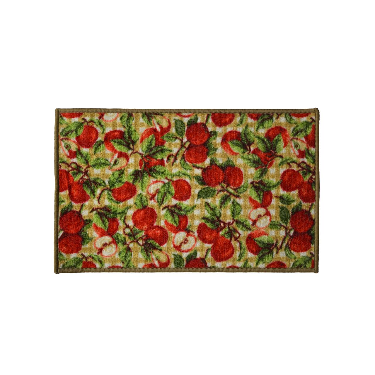 Picnic Apple 18x30 Rectangle Kitchen Rug, Area Rug, Mat, Carpet, Non-Skid  Latex Back