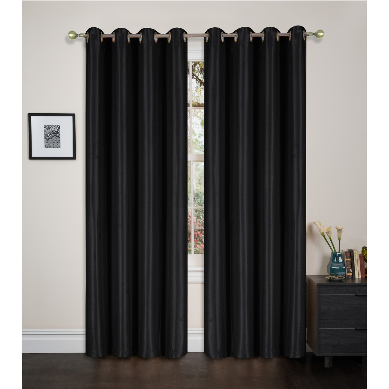 Blackout Window Curtain Panel With Grommets Maddie Single 54x84