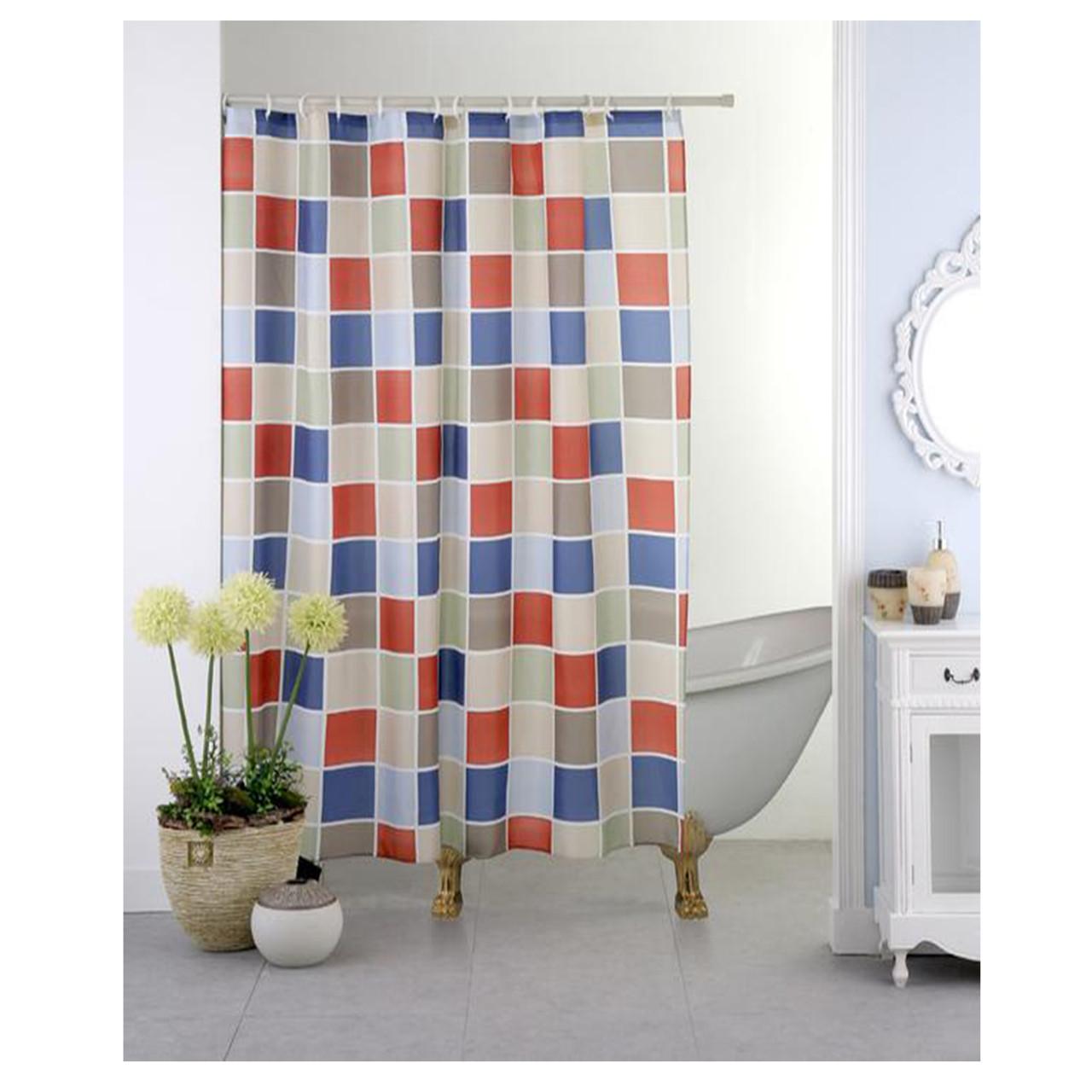 "70/""x70/"" Circle Geometric Eclipse Medallion Print Fabric Shower Bathroom Curtain"