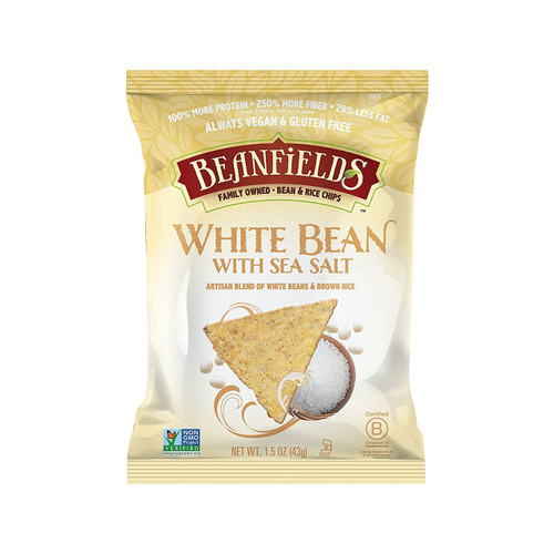 Beanfields Bean and Rice Chips, White Bean, 1.5 Ounce (Pack of 24)