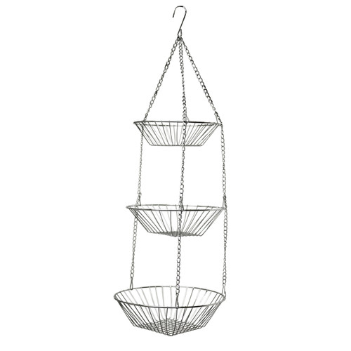 Oasis Collection Hanging Fruit Basket, FB029823, Chrome Finish (FB029823)
