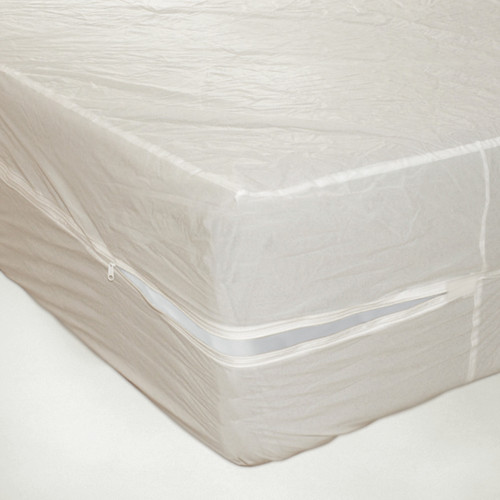 Heavy Duty PVC Vinyl Mattress Protector Cover, Hypoallergenic Waterproof Encasement, Bed Bugs - Dustmites Shield, 15 Inch Deep Pocket