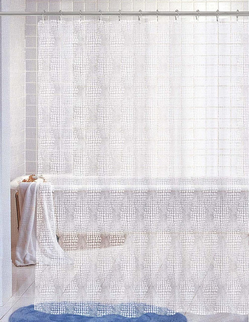 Kashi Home Nora White PEVA Shower Curtain 70X72