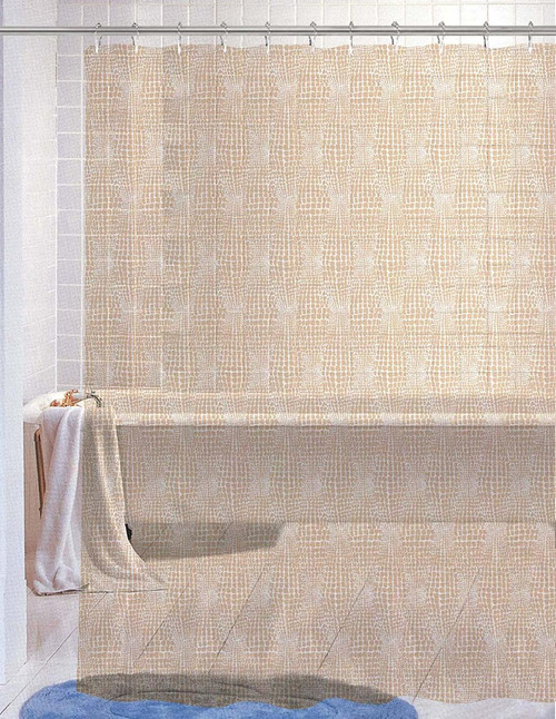 Kashi Home Nora Beige PEVA Shower Curtain 70X72