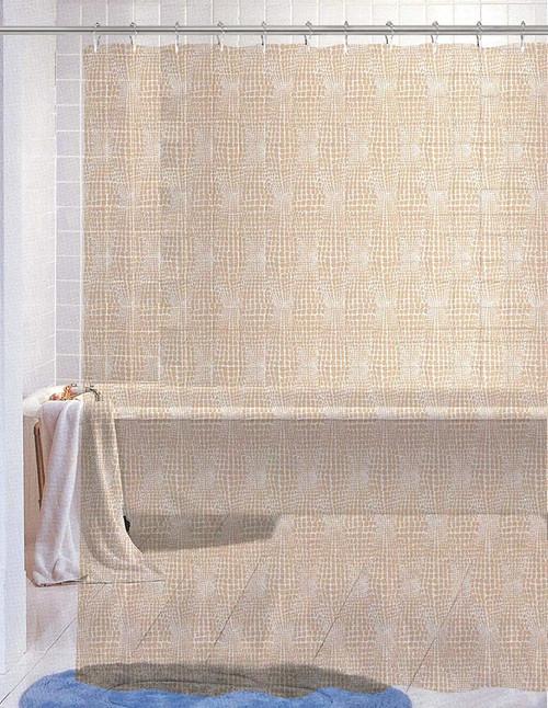 Kashi Home Nora Beige PEVA Shower Curtain 70X72