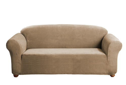 Attrayant ... Linen Store Sicily Furniture Slipcover, 1 Piece Form Fit Soft Stretch  Fabric Jacquard Couch ...