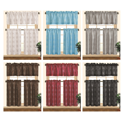 Kashi Home Dana Kitchen Curtain Set