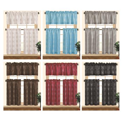 Kashi Home Dana Kitchen Curtain Set