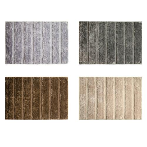 "Nadia Microfiber 20""x30"" Bathroom Rug, Mat, Floor Cover, Ribbed Design"