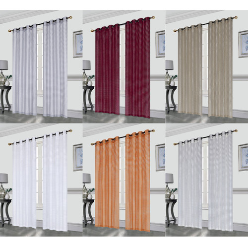 Gianna Pleated Jacquard 52X84 Inch Decorative Shining Elegant Lurex Window Curtain Panel