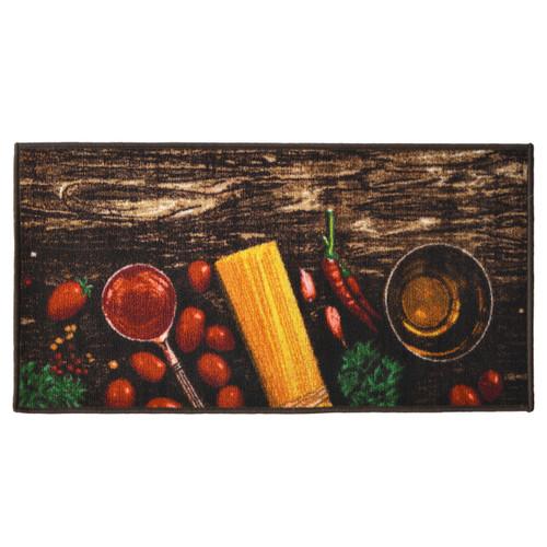 Pasta 20x40 Rectangle Kitchen Rug, Area Rug, Mat, Carpet, Non-Skid Latex Back