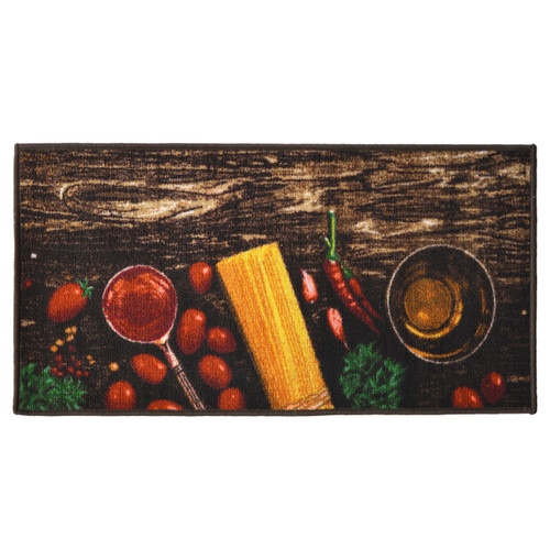 Pasta 20x40 Rectangle Kitchen Rug, Area Rug, Mat, Carpet, Non-Skid Latex Back