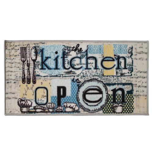 Open Kitchen 20x40 Rectangle Kitchen Rug, Area Rug, Mat, Carpet, Non-Skid Latex Back