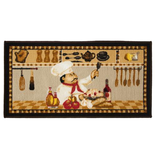 Wine Chef 20x40 Rectangle Kitchen Rug, Area Rug, Mat, Carpet, Non-Skid Latex Back