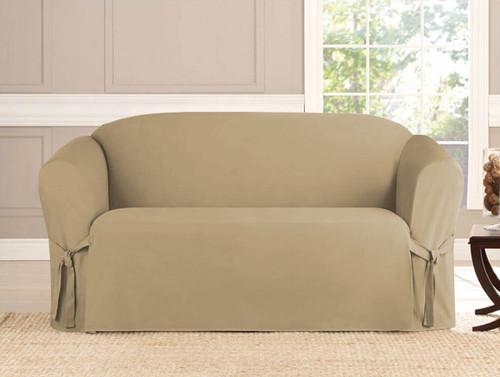 2-Piece Micro-Suede Furniture Slipcover Set (Loveseat & Sofa) - 4 Colors