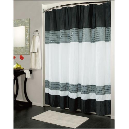 Black & White Ibiza Shower Curtain