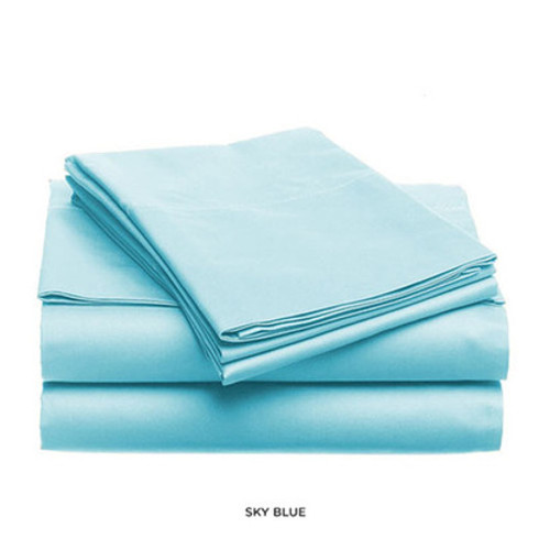 Soft and Light Solid Color Bed Sheet Set - Sky Blue