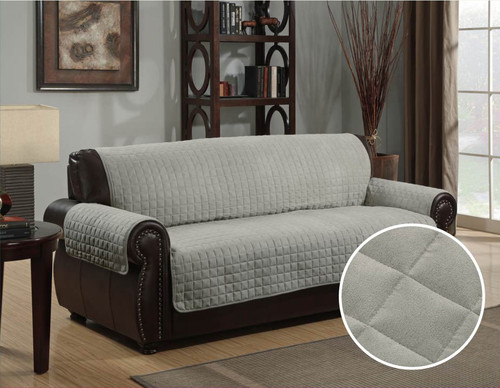Micro-Suede Furniture Protector Gray Sofa