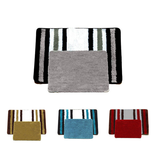 Jennie 2 Piece Plush Bathroom Rug Set, Bath Mats
