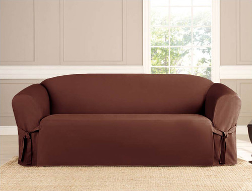 Kashi Home Micro-Suede Sofa Slipcover - Beige, Black, Brown, Ruby & Taupe