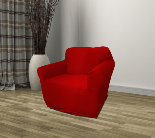 Kashi Home Jersey Slipcover Ruby Red - Chair