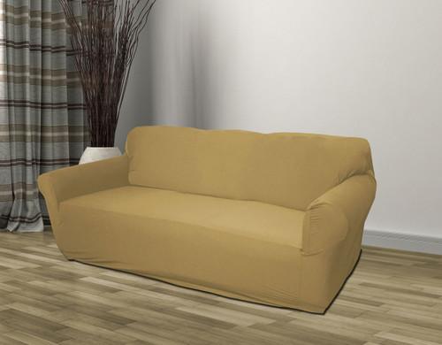 Kashi Home Jersey Slipcover Tan - Sofa