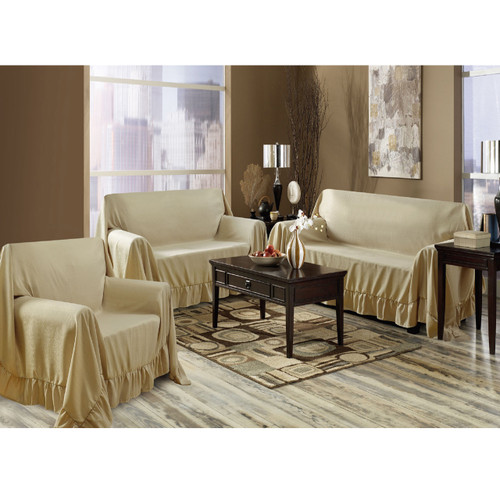Venice 3 Piece Sofa, Loveseat, Chair Protector Throw Cover Set