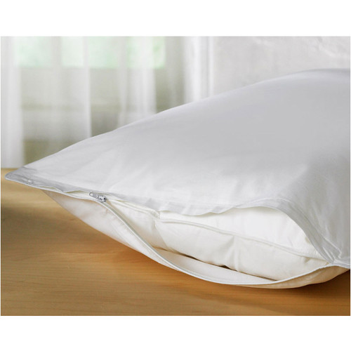 Deluxe Vinyl Zippered Pillow Protector Cover, Extra Heavy, Bed Bugs - Dustmites Shield, Waterproof, Set of Two