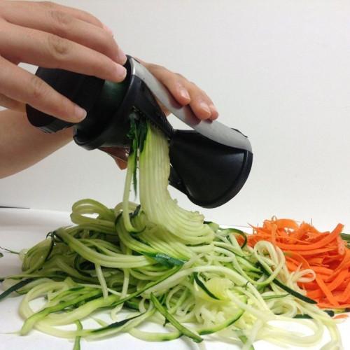 Spiral Slicer, Vegetable - Fruit Cutter Grater Twister Peeler (Black)