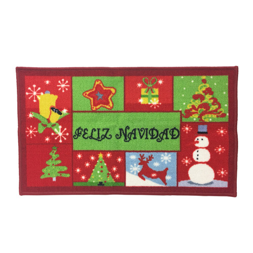 "Christmas Kitchen Rug, Decor Mat, Feliz Navidad - 18""x30"", Rectangular (K-RS054950)"