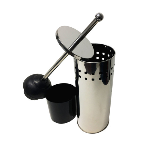 Stainless Steel Toilet Plunger with Holder, TP025948 (LS-TP025948)