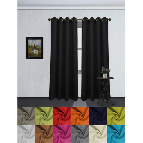 Solid Color Grommet Blackout Room Curtain Panel Soft Thermal Insulated Darkening Window Drape 54 X 84 Inch Tessa Single