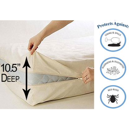 Deluxe Vinyl Zippered Mattress Protector Cover