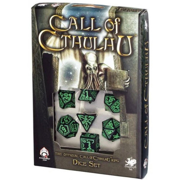 Q-Workshop Call of Cthulhu Dice Set Black and Green
